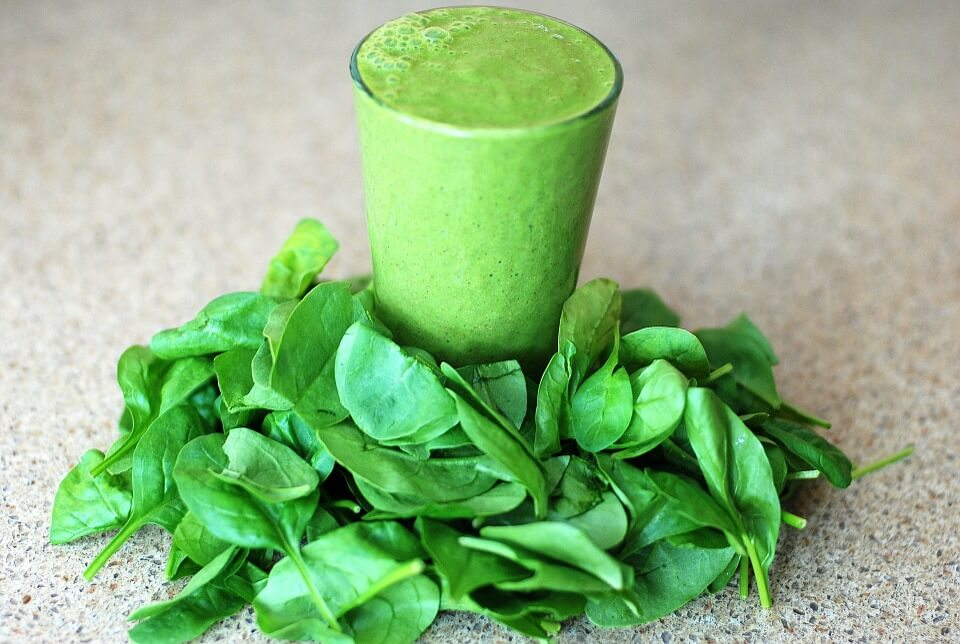 Healthy spinach