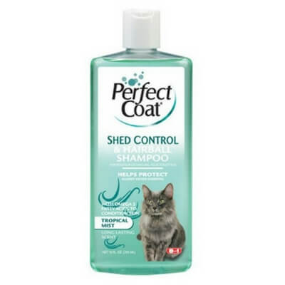 8 in 1 Perfect Coat Shed and Hairball Control Cat Shampoo